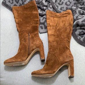 NWT Cognac knee high boots